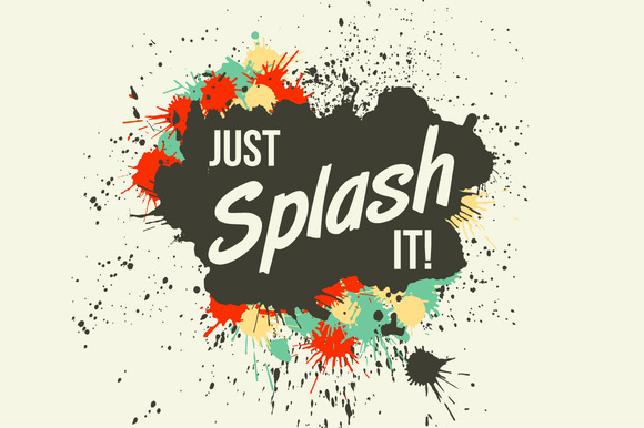 Just Splash It Grunge Vector Blots