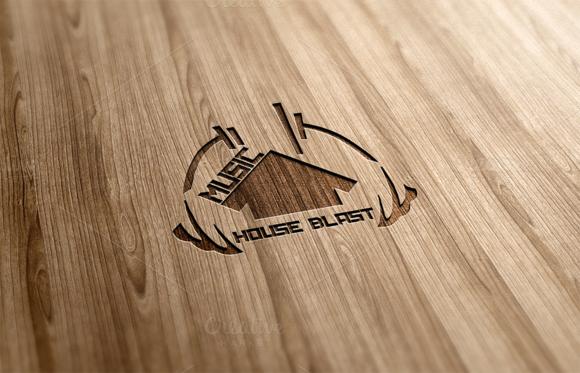 Music House Blast Logo Design