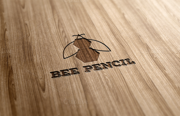 Bee Pencil Logo Design