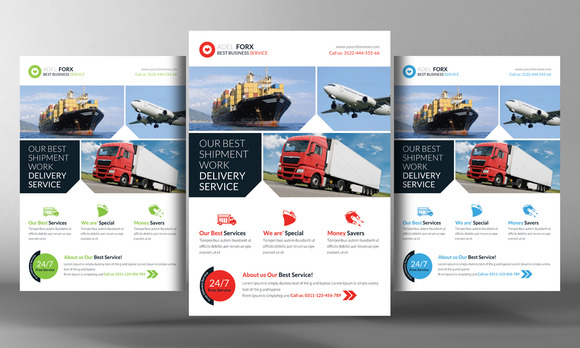 Delivery Shipment Flyer Template