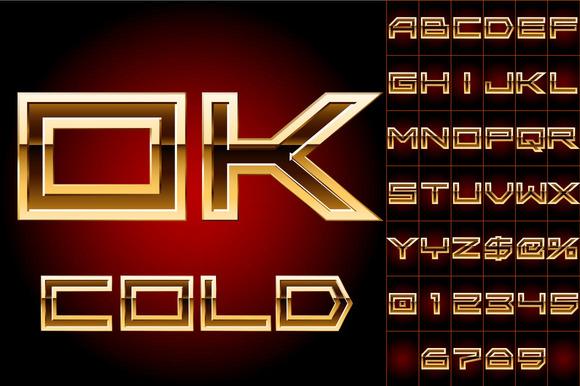 Illustration Of Golden Alphabet