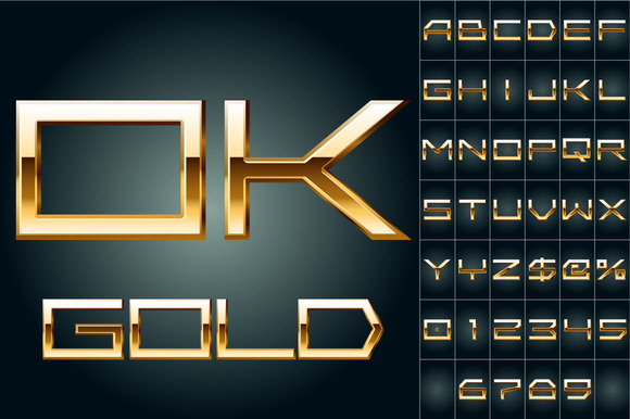 Illustration Of Golden Alphabet