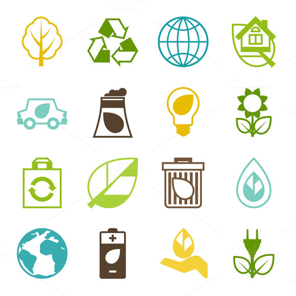 Ecology Set Of Environment Icons
