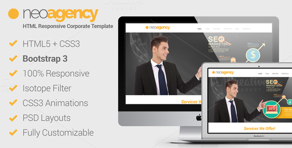 NeoAgency HTML5 Corporate Template