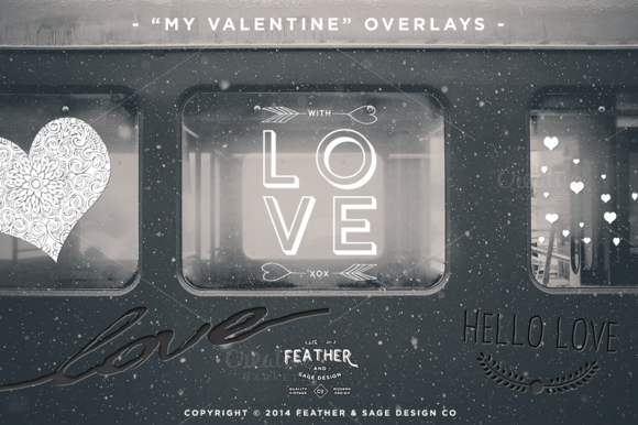 My Valentine Overlay Set