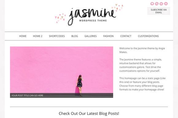 The Jasmine Feminine Wordpress Theme