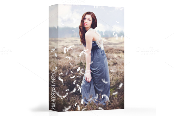 Angelic White Feather Photo Overlays