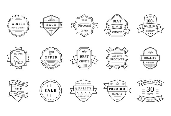 80 Sale Discount Offer Badges