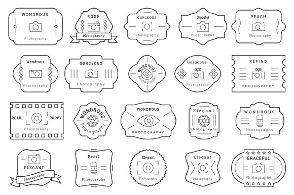 85 Photography Badges Labels