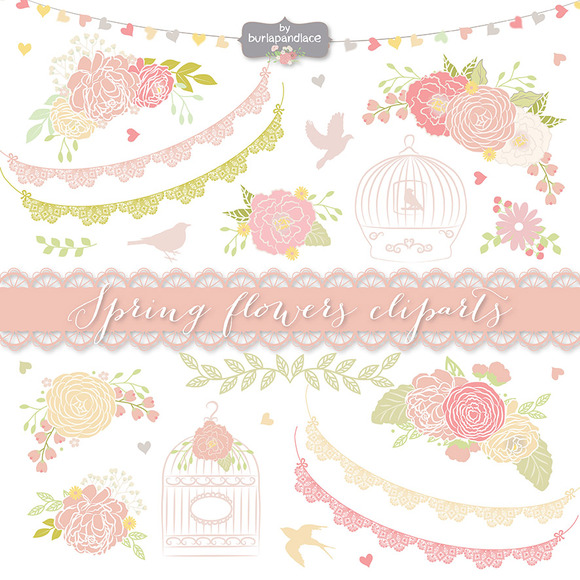 Vector Spring Flower Cliparts