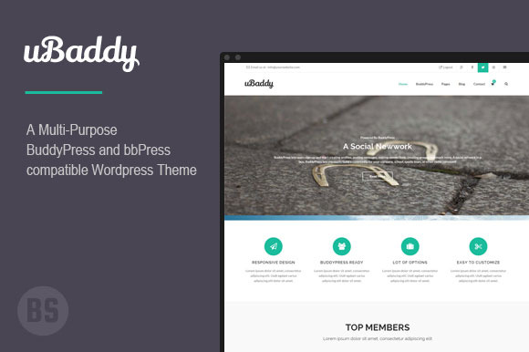 UBaddy BuddyPress WordPress Theme