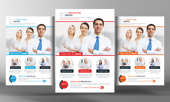Free Health Fair Flyer Templates Editable » Designtube - Creative