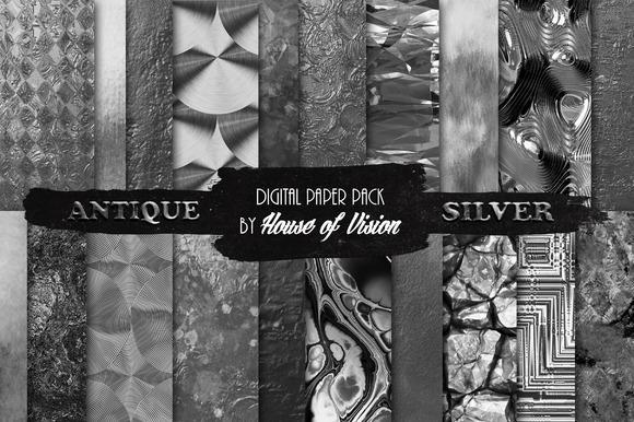 Antique Silver Textured Paper Pack