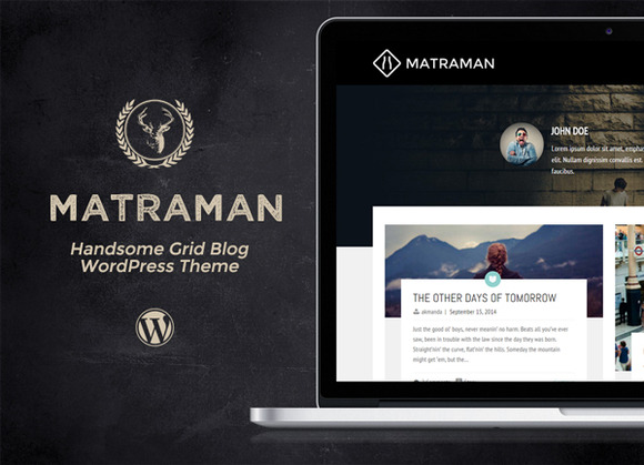 Matraman Handsome Grid Blog Theme