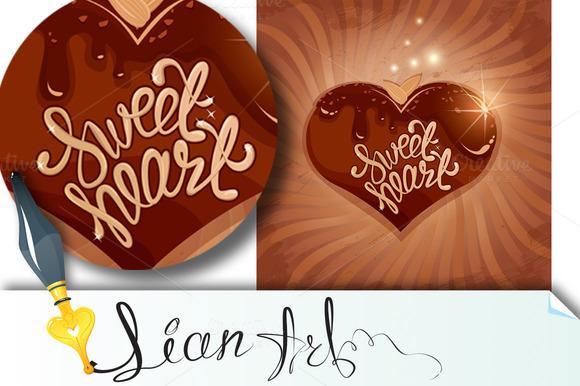 Heart In Chocolate Glaze