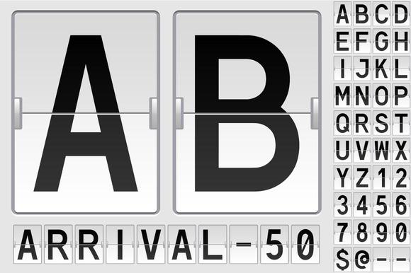 Mechanical Flipping Table Alphabet