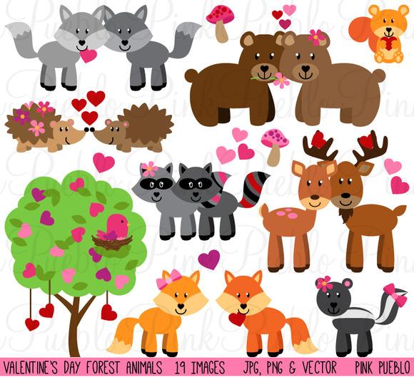 Valentine S Day Forest Animals
