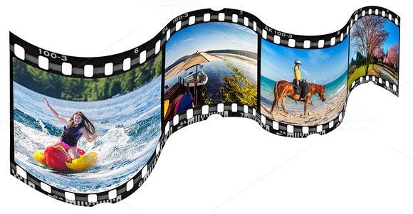Wavy Film Strip Frame Template