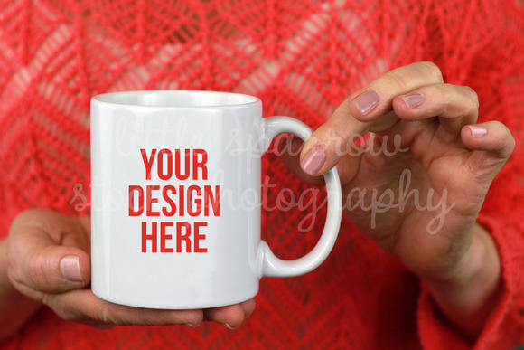 Pink Coffee Mug Mock Up
