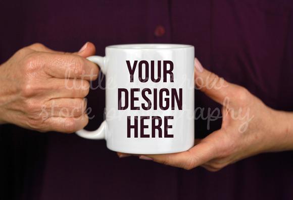 Purple Coffee Mug Mock Up
