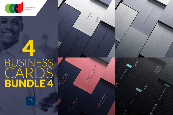 4 Business Cards Bundle 4