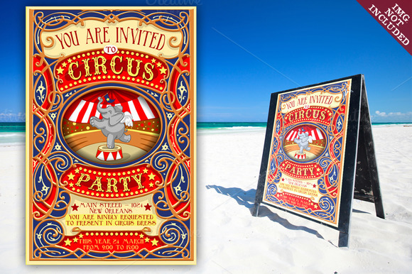 Banners Invitation For Circus Party