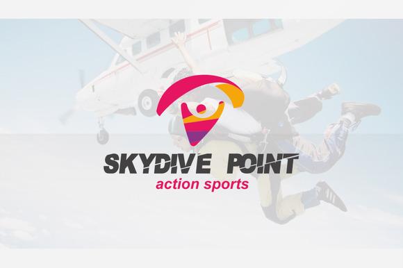 Skydive Paragliding Logo