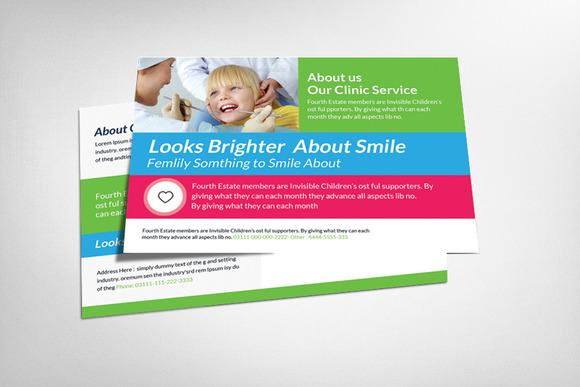 Dental Postcard Template