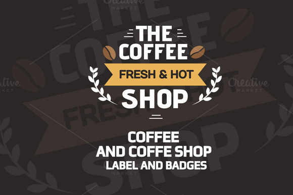 Coffee Label And Badges