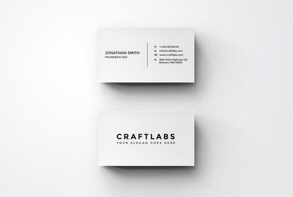 Simple Minimal Business Card 6