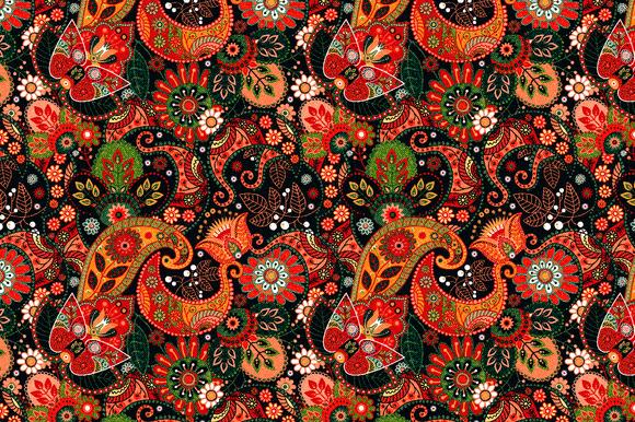 Floral Pattern Jeans Texture