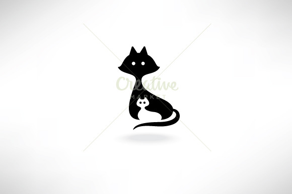 Cat And Kitten Icon