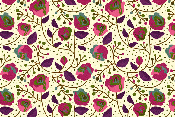 Roses Seamless Pattern
