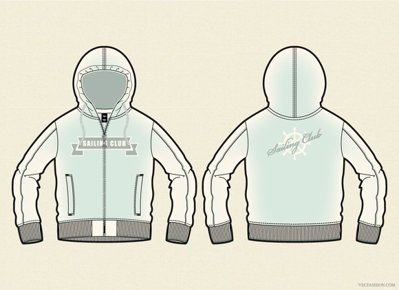 Woman Classic Hoodie Vector Template