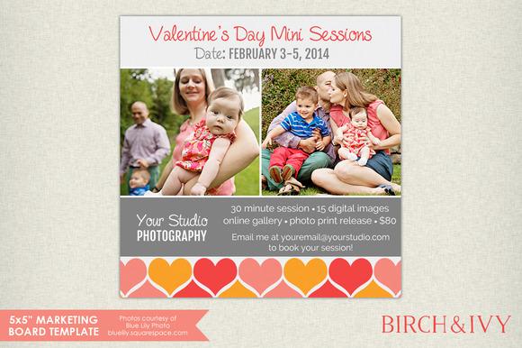 5x5 Valentine S Day Marketing Board