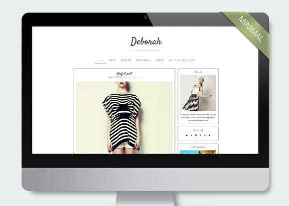 Deborah Wordpress Template Blog