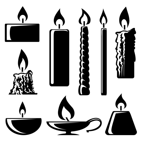 Silhouette Burning Candles