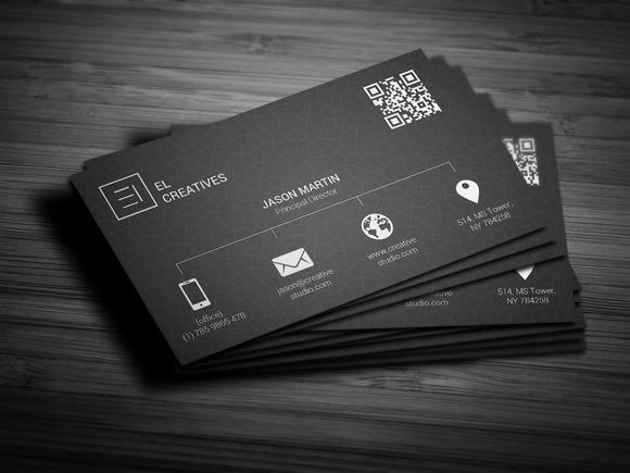 Metro Dark Business Card