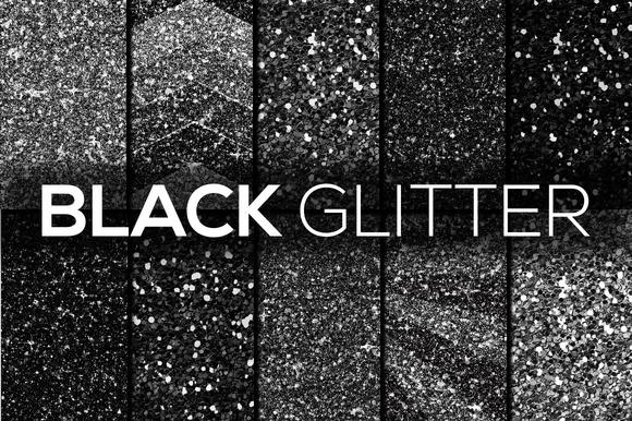 Black Glitter Textures