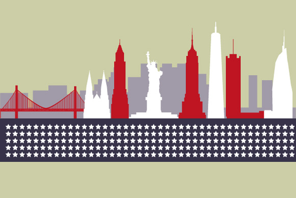 Modern Silhouette Skyline Of New Yor