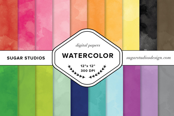 Watercolor Digital Backgrounds