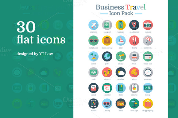 Business Travel Icon Pack