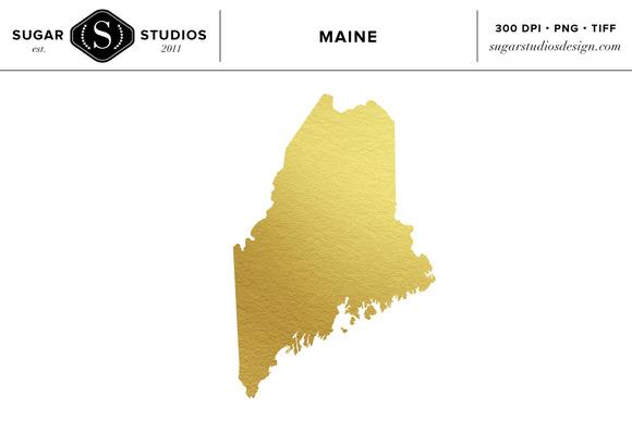 Main Gold Foil State Clip Art