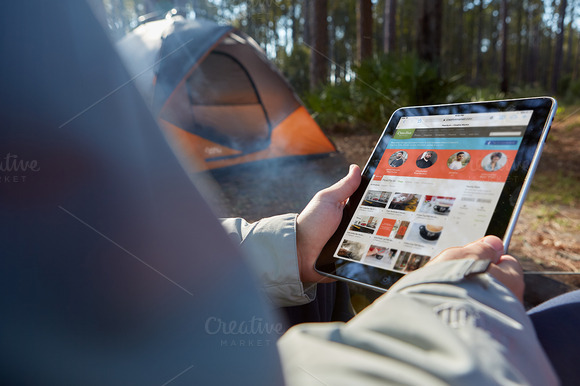 Camping Collection IPad Tent PSD
