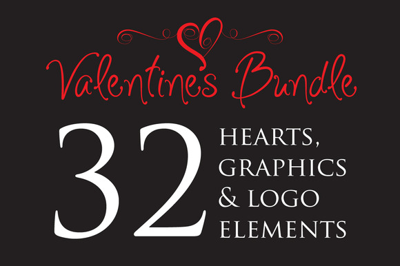 Valentines Bundle With Logo Elements