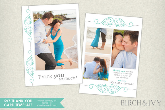 5x7 Thank You Card Template
