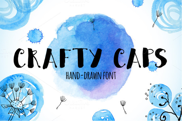 Crafty CAPS Hand-drawn Font