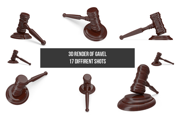 Gavel 3D Render