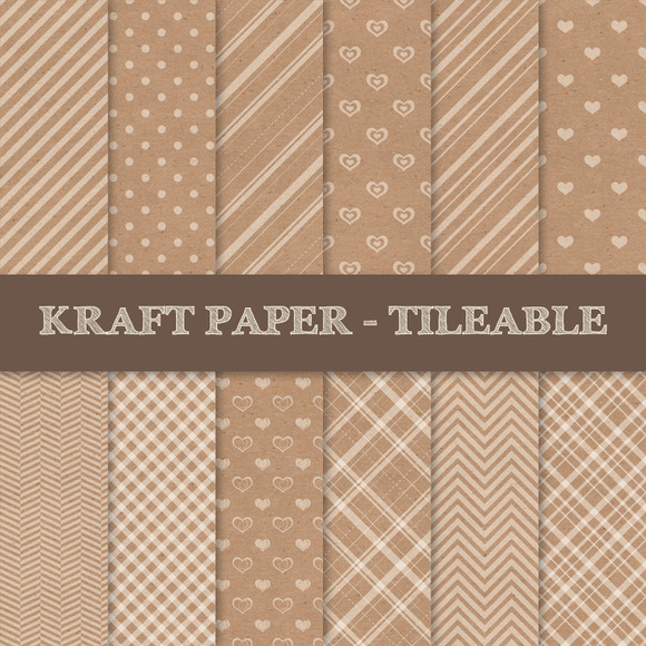 Kraft Paper Texture Patterns