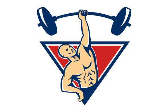 Weightlifter Lifting Barbell Weights